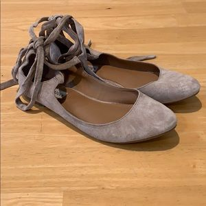 Steve Madden Suede Ankle Lace Up Shoes Size 7.5